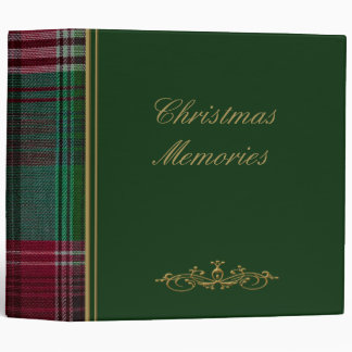 "Christmas Green Plaid 2"" Photo Album Binder"