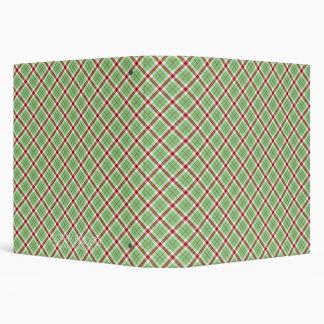 Christmas Green Plaid Binder