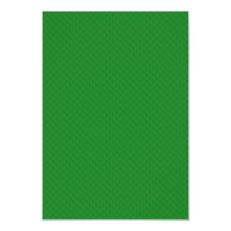 Christmas Green Quilted Pattern 3.5x5 Paper Invitation Card