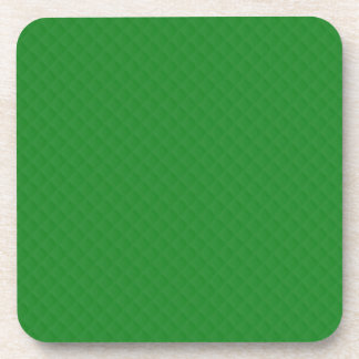 Christmas Green Quilted Pattern Beverage Coaster