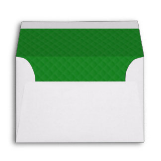 Christmas Green Quilted Pattern Envelope