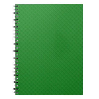 Christmas Green Quilted Pattern Spiral Notebook