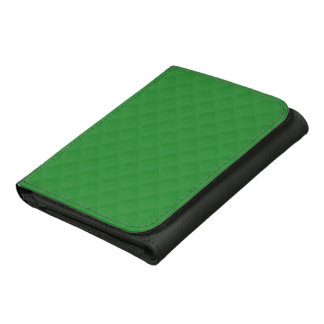 Christmas Green Quilted Pattern Wallet