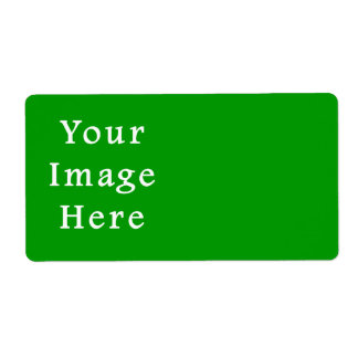 Christmas Green Retro Color Trend Blank Template Personalized Shipping Label