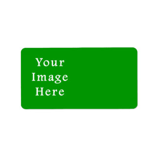 Christmas Green Retro Color Trend Blank Template Address Label