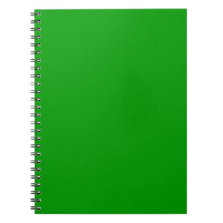 Christmas Green Retro Color Trend Blank Template Spiral Notebook