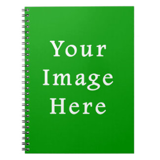 Christmas Green Retro Color Trend Blank Template Spiral Note Books