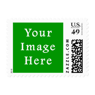 Christmas Green Retro Color Trend Blank Template Postage