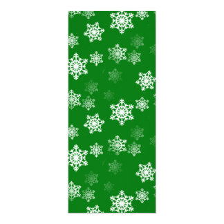 Christmas Green Snow Flurries Pattern Card