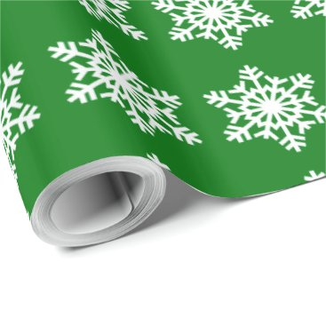 Disney Themed Christmas Green Snowflake Wrapping Paper