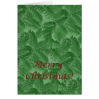 Christmas Green Spruce Note Card