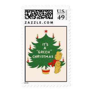 """Christmas """"Green Stamp"""" Postage Stamp"""
