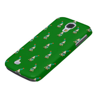 Christmas Green Toddler Children Elves Pattern Galaxy S4 Covers