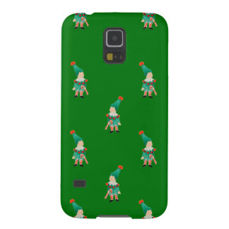 Christmas Green Toddler Children Elves Pattern Galaxy S5 Cover