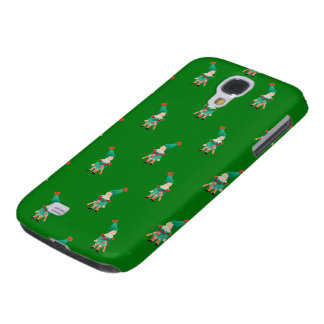 Christmas Green Toddler Children Elves Pattern Samsung Galaxy S4 Covers