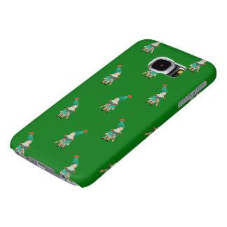 Christmas Green Toddler Children Elves Pattern Samsung Galaxy S6 Cases