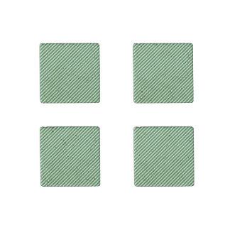 Christmas Green & White Diagonal Candy Cane Stripe Stone Magnet