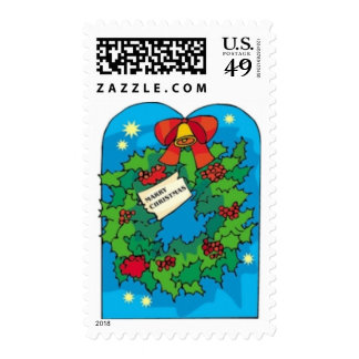 Christmas Green Wreath Stamps