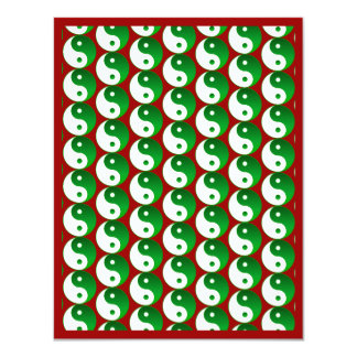 Christmas Green Yin & Yang Pattern Card
