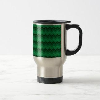 Christmas Green Zig Zag Chevron Travel Mug