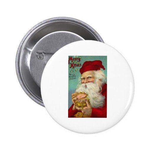 Christmas Greeting 2 Inch Round Button