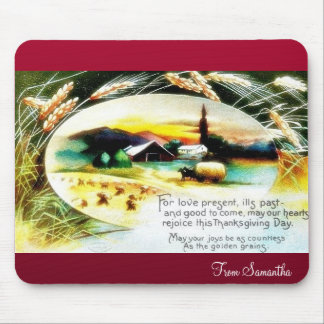christmas greeting about former and forms in a vil mouse pad