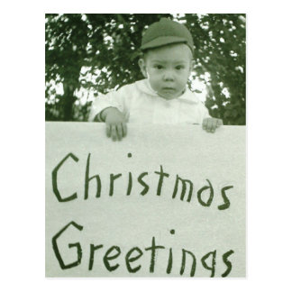 Christmas Greeting Boy Postcard
