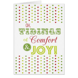 """Christmas Greeting Card-""""Comfort and Joy""""-BLANK!"""