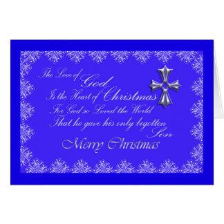 Christmas Greeting Card/Cross-Blue