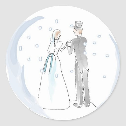 Christmas Greeting Card Envelope Seals Classic Round Sticker