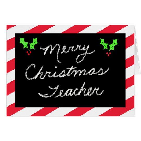 Christmas Greeting Card for Teacher -- Blackboard