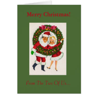 Christmas Greeting Card From The Two Of Us