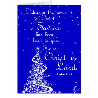 Christmas Greeting Card/Jesus is Savior Card
