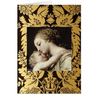 Christmas Greeting Card  Madonna And Child