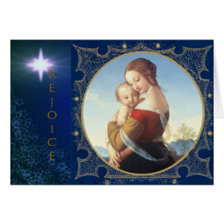 "Christmas Greeting Card ""Madonna And Child"""