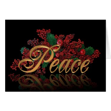 USA Themed Christmas greeting card PEACE