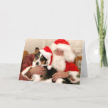 Christmas Greeting Card Santa and his Welsh Corgi