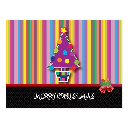 Christmas Greeting cards: Colorful Christmas Postcard