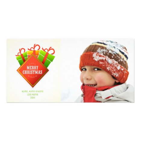 Christmas Greeting, Holiday Packages Photo Card
