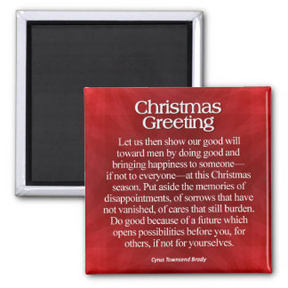 Christmas Greeting 2 Inch Square Magnet