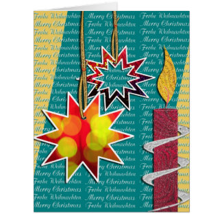 Christmas greeting map card