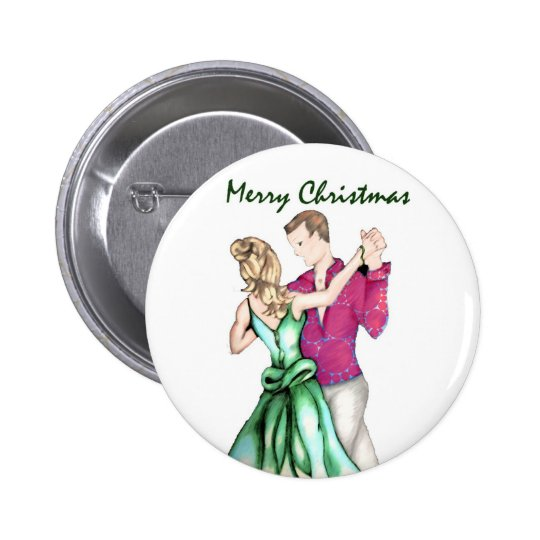 Christmas Greeting Pinback Button