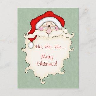 Christmas Greeting Postcard postcard