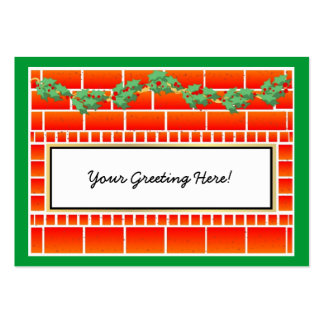Christmas Greeting Profile Card Large Business Card