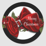 Christmas greeting seals PERSONALIZE Round Stickers