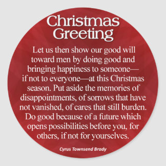 Christmas Greeting Sticker