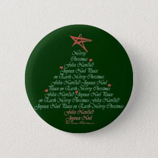 Christmas Greeting Tree Pinback Button