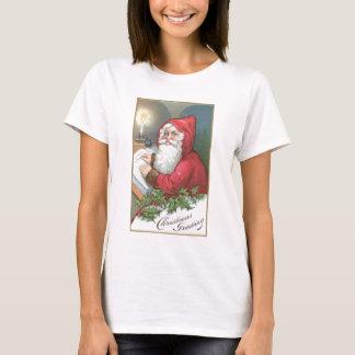 Christmas Greeting - Vintage Santa T-Shirt