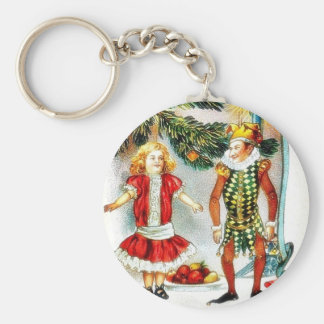 Christmas greeting with a girl dance with a jocker keychains