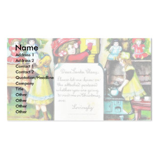 Christmas greeting with a lady sends letter to san Double-Sided standard business cards (Pack of 100)